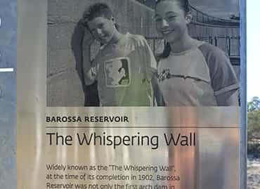 Images of children on a wall